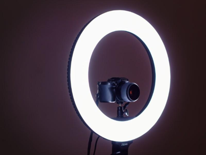 Como hacer un aro de luz facil